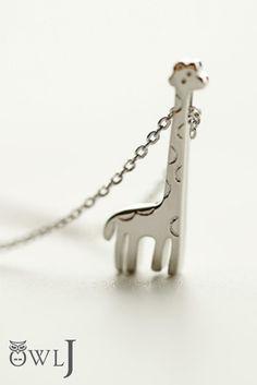 925 Sterling Silver Giraffe Necklace