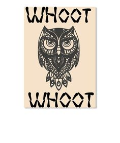Discover Owl Whoot Whoot T-Shirt from Westbury Collections, a custom product made just for you by Teespring. - Get this great owl whoot whoot design . Home Decor Wall Art, Owl, Just For You, Clock, Stickers, Shirt, Design, Wall Hanging Decor, Watch