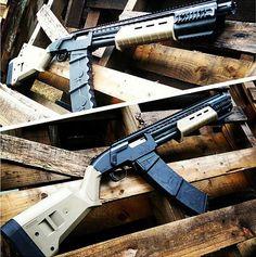 Shotgun, Mossberg custom, guns, weapons, self defense, protection, 2nd amendment, America, firearms, munitions #guns #weapons