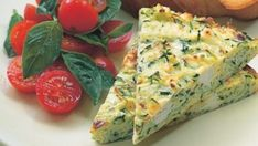 Looking for a low-fat, healthy dinner? Try this vegetarian frittata - zucchini, low fat ricotta frittata. Vegetarian Frittata, Frittata Recipes, Vegetarian Recipes, Cooking Recipes, Spinach Frittata, Healthy Recipes, Diet Recipes, Ricotta, Cheese Recipes