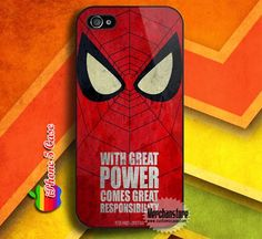 Spiderman With Great Power Custom iPhone 5 Case Cover