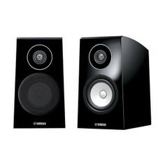 YAMAHA NS-B750 - 2-way bass-reflex bookshelf speaker system for front channels , rounded top panel reduces vertical standing waves; trapezoidal cabinet shape reduces horizontal standing waves, advanced PMD cone woofer, aluminium dome tweeter with DC-Diaphragm™, three-way mitered-joint construction. Bookshelf Speakers, Bookshelves, Yamaha Grand Piano, Yamaha Speakers, Speaker System, 2 Way, Apple Tv, Grand Pianos, Piano