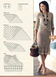crochet skirt & top