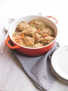 Wheat Belly Cookbook Recipe: Chicken and Dumplings  round golden flaxseed 4 teaspoons baking powder 4 tablespoons cold butter, cut into cubes 4 egg whites