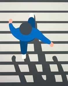 Geoff McFetridge is an LA-based artist who works across a great variety of media including graphic design, illustration and animation . Art And Illustration, Illustrations And Posters, Art Postal, Poster S, Photocollage, Arte Pop, Art Graphique, Brainstorm, Grafik Design