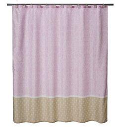 Tiddliwinks Baroque Damask Shower Curtain 71 x 71 by KidsLine New - Shower Curtains