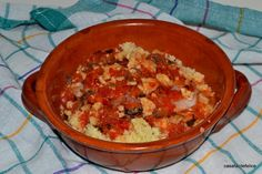 Brodetto di Sciarrano (Perchia) con couscous, video. on http://casafacilefelice.org