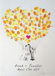 15 amazing wedding guest book ideas - Something krafty | CHWV