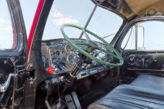 Big Rig Wall Art - Photograph - Mack Truck Interior by Rudy Umans Classic Tractor, Classic Trucks, Classic Cars, Old Mack Trucks, Mack Attack, Truck Engine, Show Trucks, Truck Interior, Fire Engine