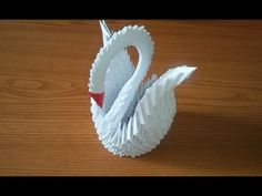 How to Make a 3D Origami Swan - Instructions - YouTube
