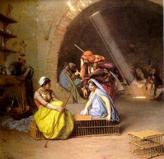 """""""Almehs Jogando Xadrez Em Um Cafe"""" ... by Cornelis de Man"""