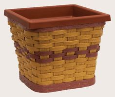 Square Basket Sleeve with Pot (available in many colors) - Krasco baskets