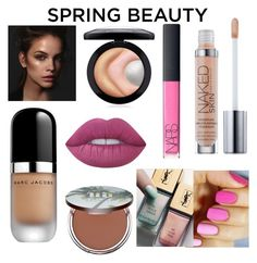 """""""Fresh✨"""" by iamthal on Polyvore featuring beauty, Marc Jacobs, MAC Cosmetics, Urban Decay, NARS Cosmetics and Lime Crime"""