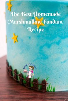 What could be better than a fondant that taste like candy and smells of marshmallow? This Homemade marshmallow fondant recipe is a must have for kids cakes.