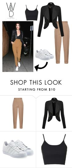 """KARlove!XD"" by astridvelez ❤ liked on Polyvore featuring Bottega Veneta, adidas Originals and Topshop"
