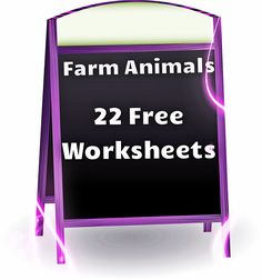 Farm Animals Free Worksheets!