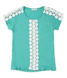 Monteau Girl 7-16 Crocheted-Panel Top | Dillard's Mobile