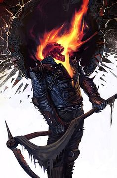 """Ghost Rider #22″ by Jason Aaron and Roland Boschi"