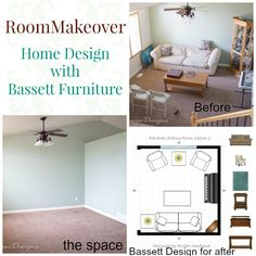 Sitting Room makeover with Bassett Furniture; working on the home design of our new house and great ideas for getting the right layout of a room.