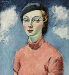 Kees Van Dongen, La femme au béret, 1936