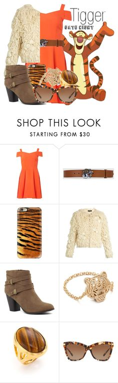 """Tigger~ DisneyBound"" by basic-disney ❤ liked on Polyvore featuring Disney, Dorothy Perkins, Gucci, Casetify, Tabula Rasa, Kenzo, Kenneth Jay Lane and Michael Kors"