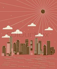 Stock vector of 'City skyline illustration'