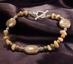 Handmade Petoskey Stone Bracelet