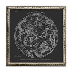Modern Vintage Southern and Northern Hemisphere Prints. Set of Diptych Print. Bohemian Wall Decor, Epson, Decoration, Black Print, Constellations, Astronomy, Southern, Posters, Map