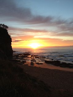 Ultimate sunrise. Newport beach, Sydney, Australia