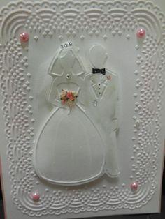 BRIDE & GROOM rare wonderful EMBOSSING FOLDER + Stampin Up FLOWeRs
