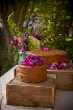 Rustic Cake Stand Wood Box