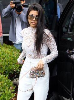 Kourtney Kardashian Photos - The Kardashian Heads to Church on Easter - Zimbio