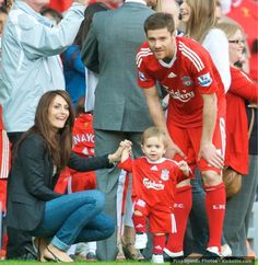 A sad farewell... the final time Xabi Alonso stood on the Anfield pitch as a Liverpool player. #LFC #Legend #thekop