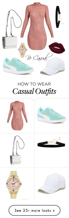 """Casual Dress"" by graz-zia on Polyvore featuring Puma, Kendall + Kylie, Rolex and Sole Society"