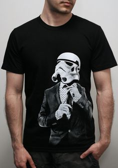 Smarttrooper - Mens t shirt / Unisex t shirt  ( Star Wars / Storm trooper t shirt ). $23.00, via Etsy.