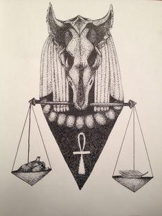 Anubis&Balance Tattoo