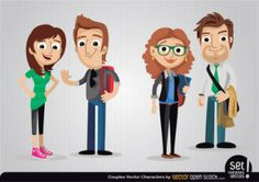 vector character, free for download: