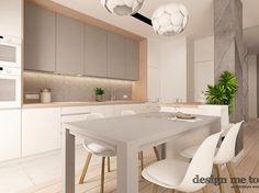 NOWOCZESNY APARTAMENT NA WILANOWIE WERSJA I - Średnia otwarta kuchnia w kształcie litery l, styl nowoczesny - zdjęcie od design me too