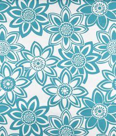 Golding Full Bloom Turquoise Fabric - $7.85   onlinefabricstore.net