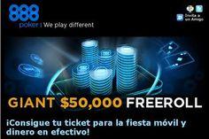 Gran Freeroll en 888Poker- U$D 50.000 en premio