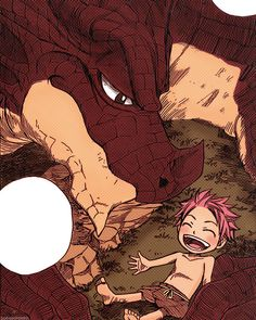 Natsu Dragneel and Igneel, I hope natsu finds him, I would be so sad if he didn't :'(