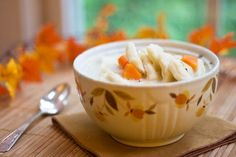 Chicken and Dumpling Soup: A warm hearty bowl of soup for those cool autumn days.