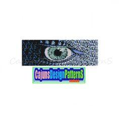 BLUE DRAGON EYE Wide PeyoteBeaded Bracelet by CajunsDesignPatternS, $5.50