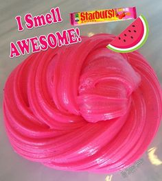 Watermelon Starburst Scented Pop Slime Smells SO GOOD 450 designer and niche perfumes/colognes to choose from! Make Slime For Kids, How To Make Slime, Slimy Slime, Edible Slime, Pretty Slime, Pink Slime, Homemade Slime, Homemade Art, Cool Slime Recipes