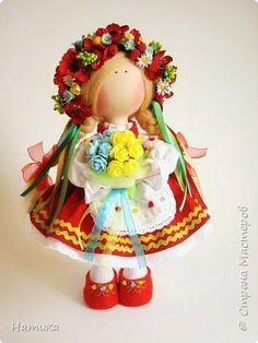 Куклы Шитьё Кукла Украинка Ленты Ткань Шерсть фото 1