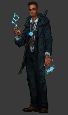 @Gamerstable Meet Talisman. @first2third51 's arcane investigator for our #Shadowrun AP. Art by @Youriah90