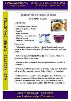 Tupperware - Croquettes de pomme de terre au saint maure
