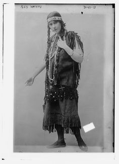 Miss Enid Watkins, a Berkeley graduate, performed Native American and Irish music and dance in New York in the 1910s.