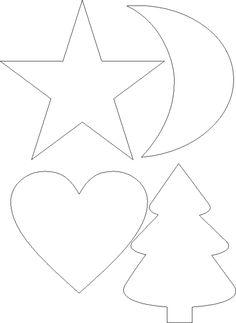 ozdoby z filcu szablon - Szukaj w Google Wooden Christmas Trees, Christmas Ornaments To Make, Felt Christmas, Christmas Crafts, Beginner Quilt Patterns, Quilting For Beginners, Ornament Crafts, Handmade Ornaments, Metal Crafts