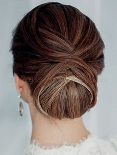 Adorable Low chignon buns make for an elegant wedding hairstyle for any bride, no matter the type of hair! Description from weddinghairstyles…. I searched for this on bing.com/images  The post   ..